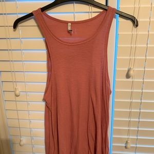 High neckline cute NWOT pink tank top